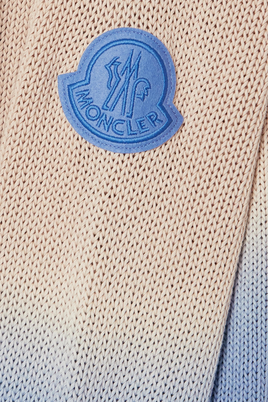 Moncler Ombré open-knit cotton sweater