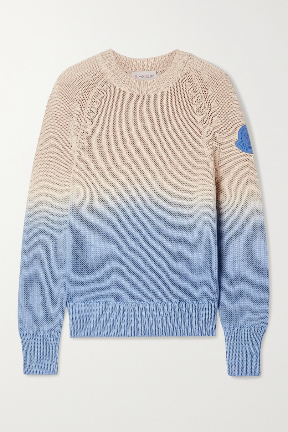 Moncler Ombré open-knit cotton sweater