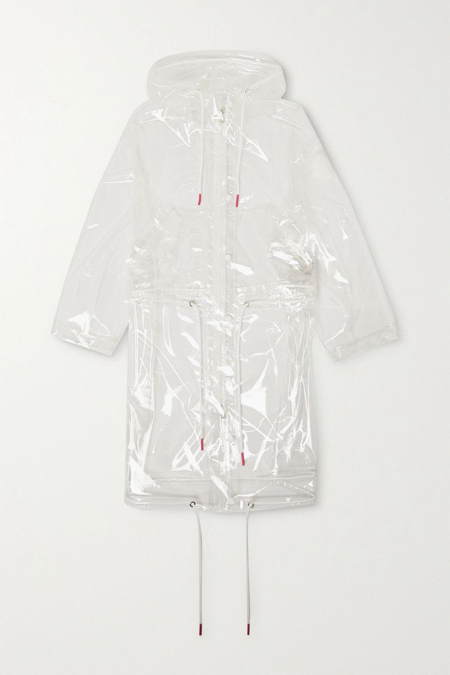 Moncler Acajou PU raincoat