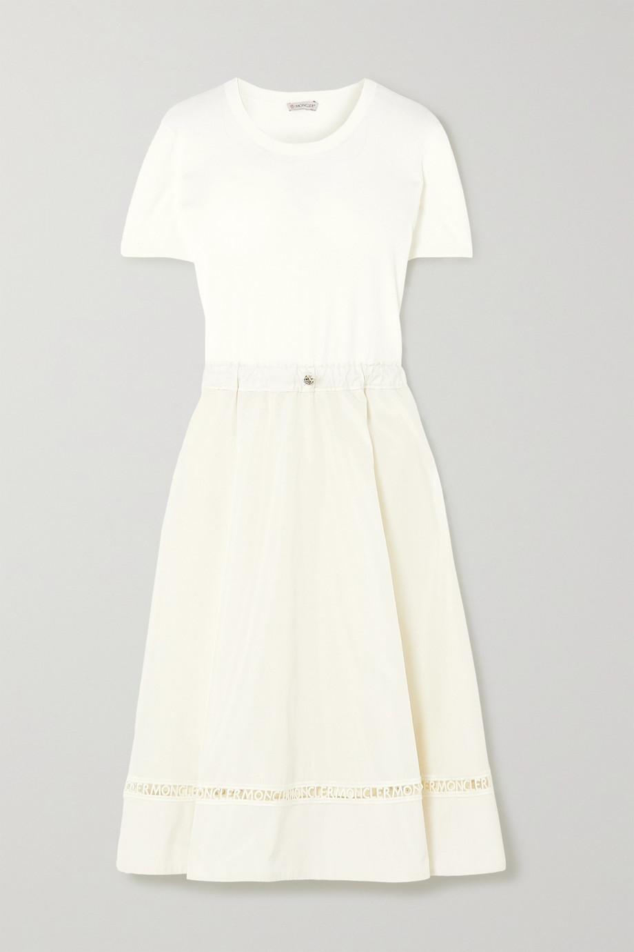 Moncler Laser-cut jersey dress