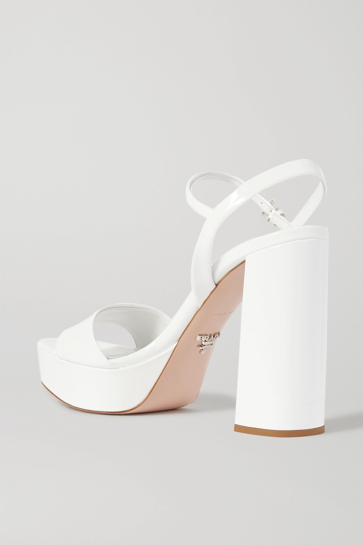 Prada 130 patent-leather platform sandals