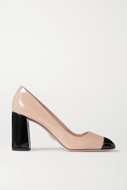 85 two-tone patent-leather pumps
