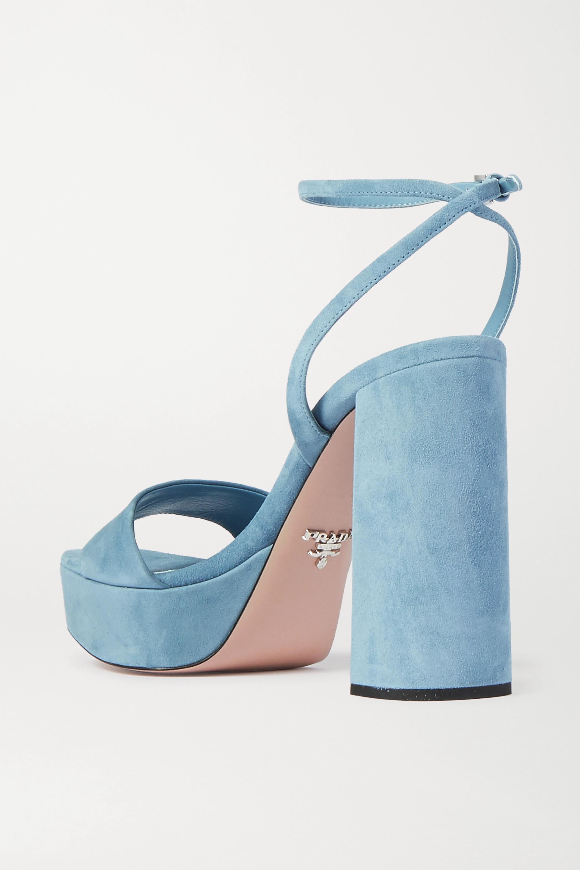 Prada 125 suede platform sandals