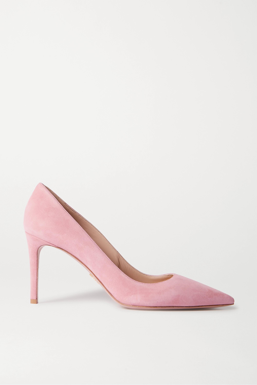 Pink 85 suede pumps   Prada   NET-A-PORTER