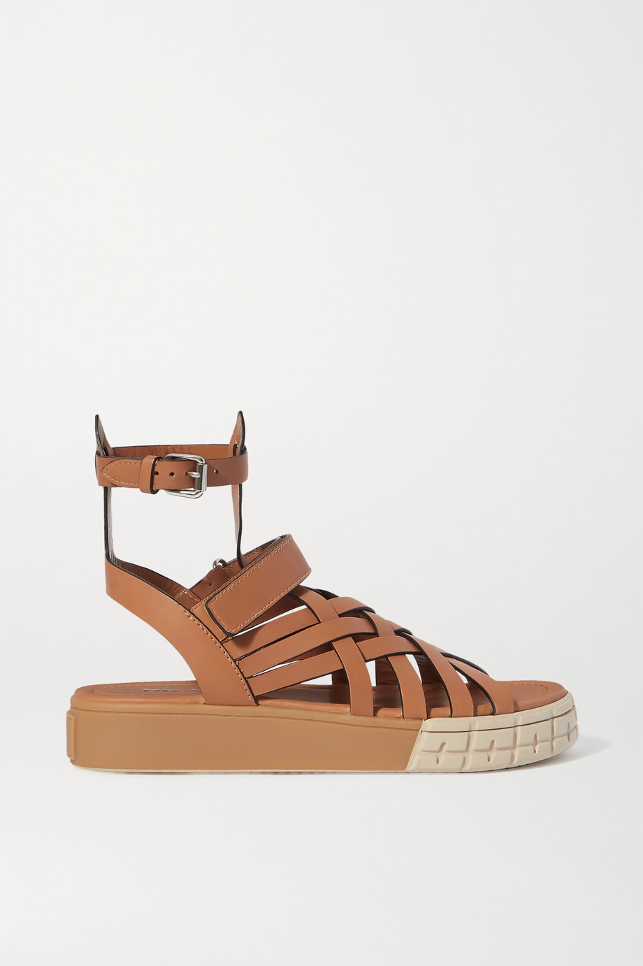 Prada Leather platform sandals