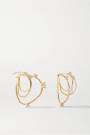 Constellation gold-plated crystal earrings