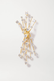 Constellation Arch gold-plated crystal clip earring