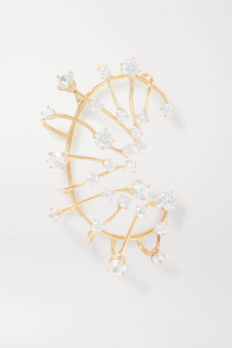 Panconesi Constellation Fire gold-plated crystal ear cuff