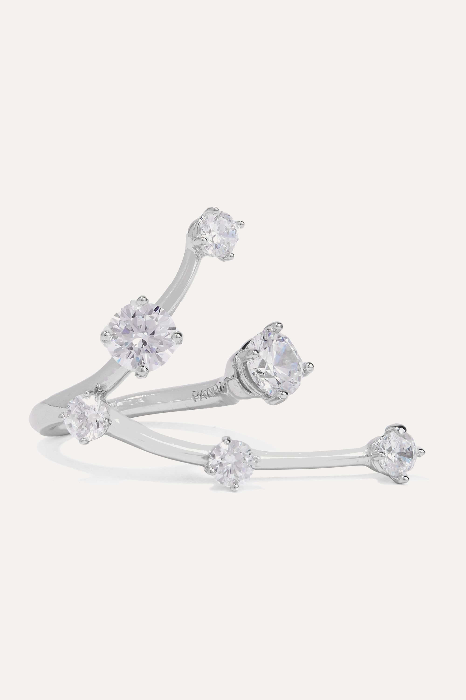 Panconesi Constellation silver crystal ring