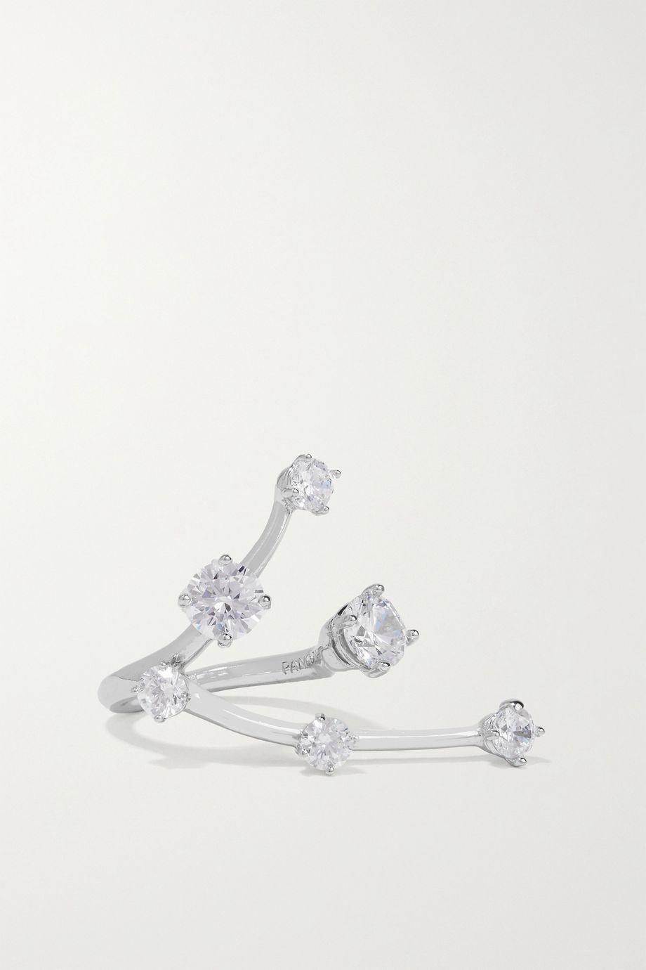 Panconesi Constellation Ring aus Silber mit Kristallen