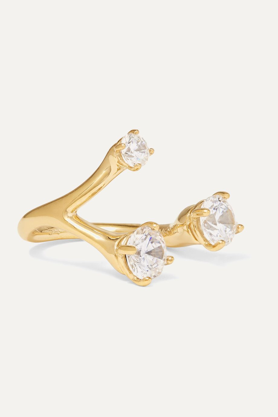 Panconesi Constellation Trinity gold-plated crystal ring