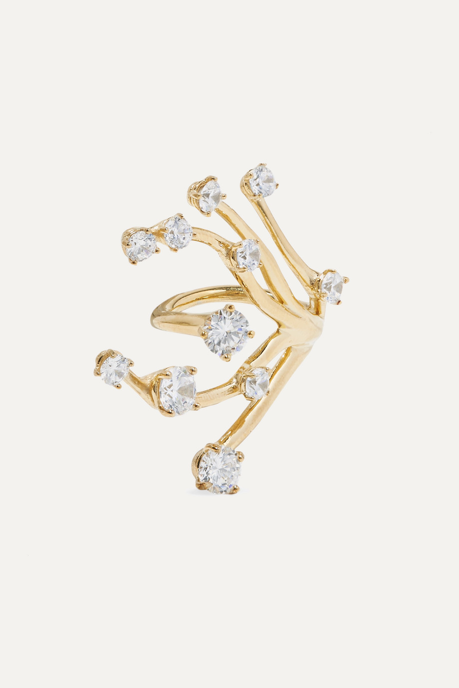 Panconesi Constellation Fire gold-plated crystal ring