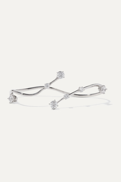 Constellation Silver Crystal Hand Piece by Panconesi