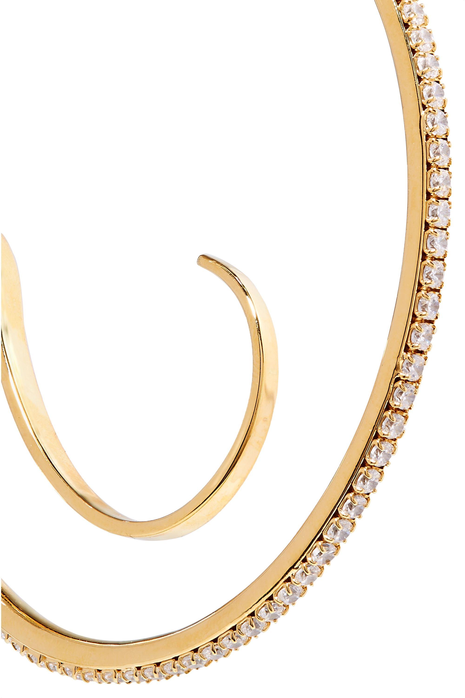 Panconesi Upside-Down 多种戴法水晶镀金耳环