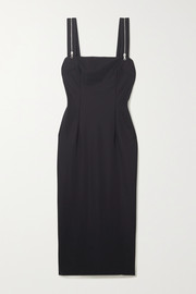 Marcia Tarot zip-detailed stretch-jersey midi dress