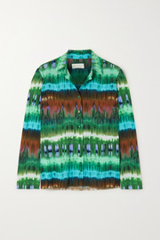 Marcia Paris tie-dyed stretch-jersey shirt