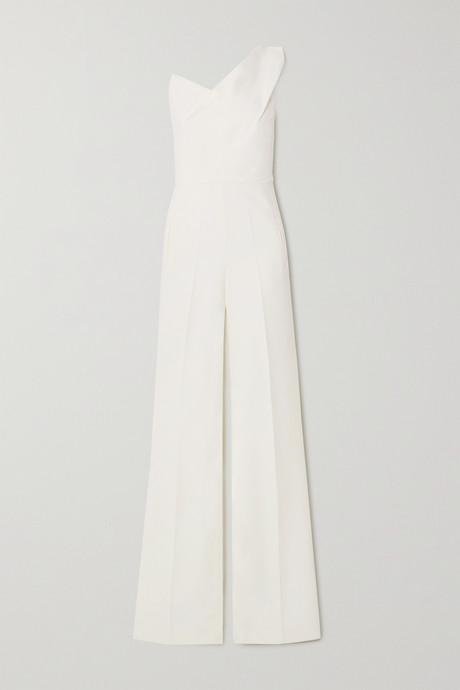 White Platano one-shoulder wool-crepe jumpsuit | Roland Mouret bNSIR3