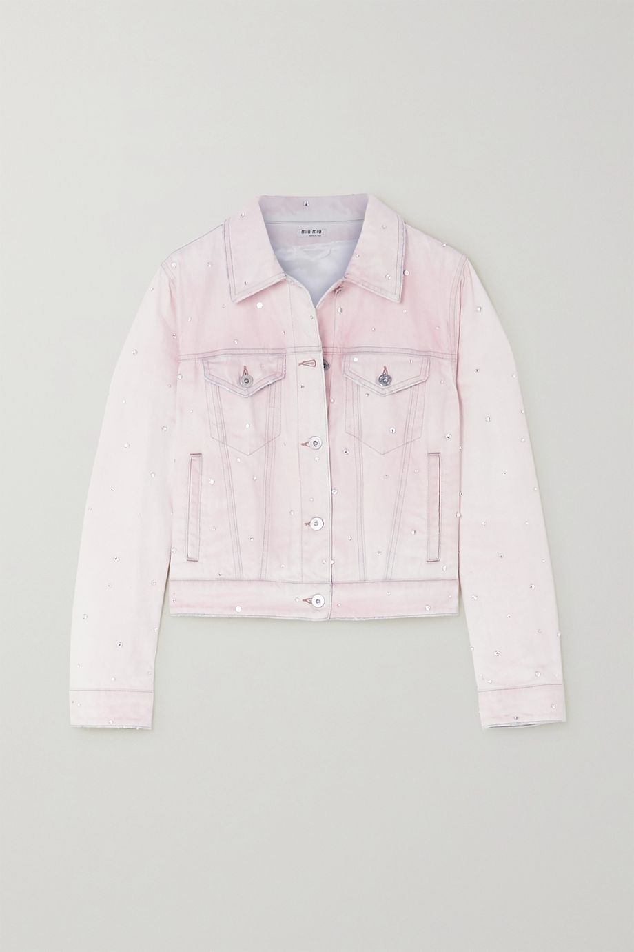 Miu Miu Crystal-embellished denim jacket