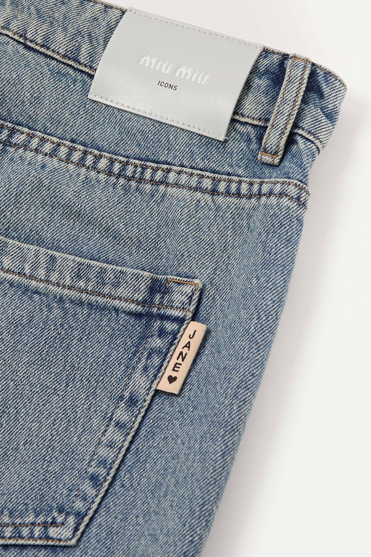 Miu Miu Hoch sitzende Jeans mit weitem Bein