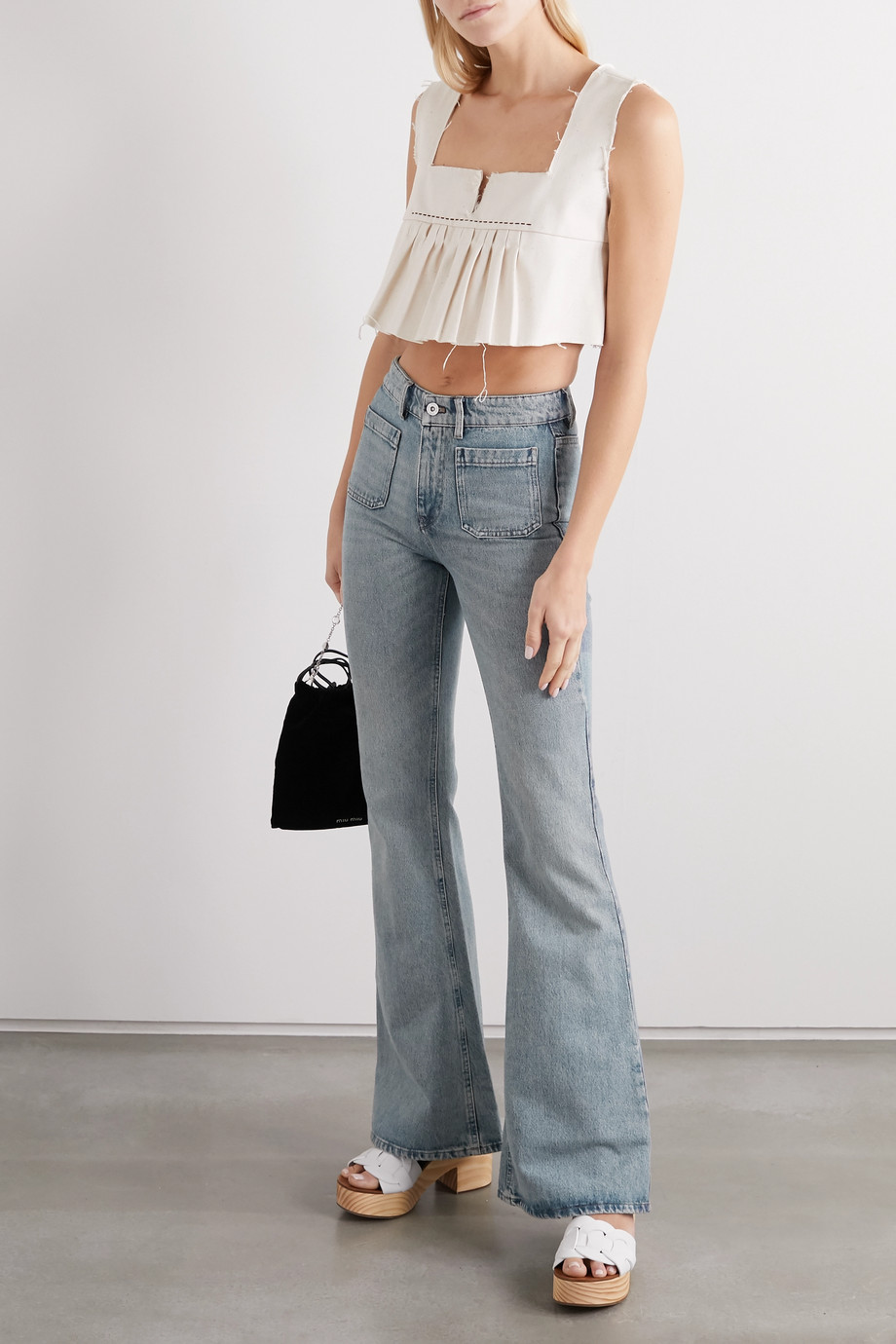 Miu Miu High-rise wide-leg jeans