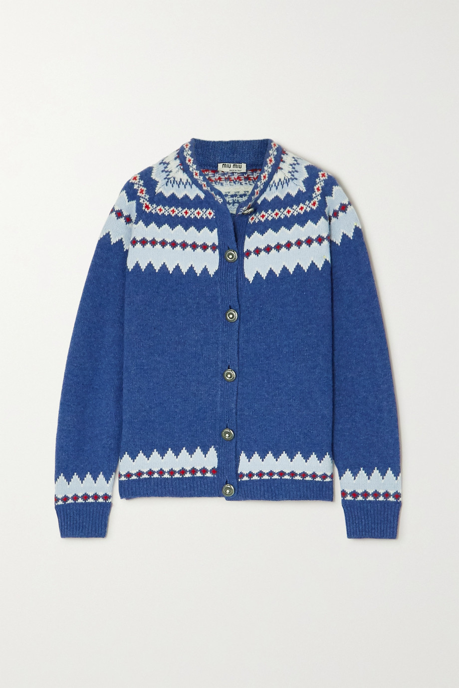 Miu Miu Fair Isle wool cardigan