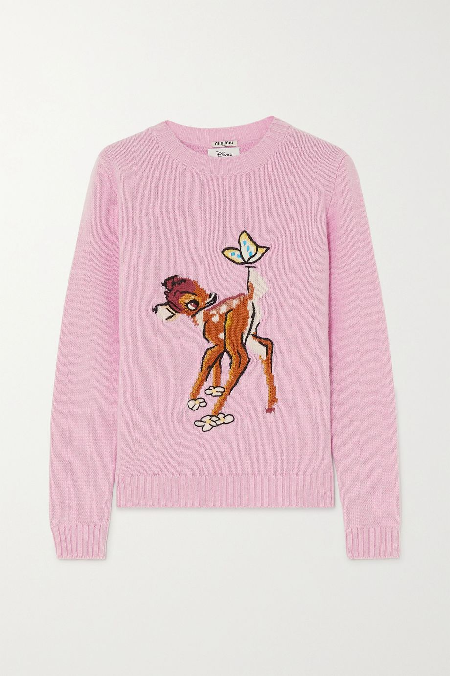 Miu Miu + Disney intarsia wool sweater