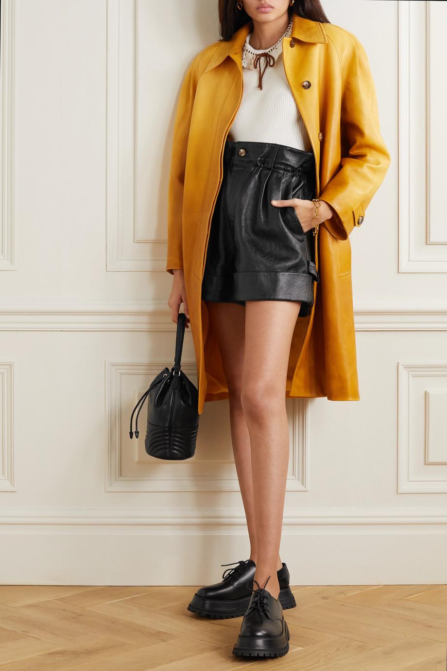 Miu Miu Shorts aus Leder