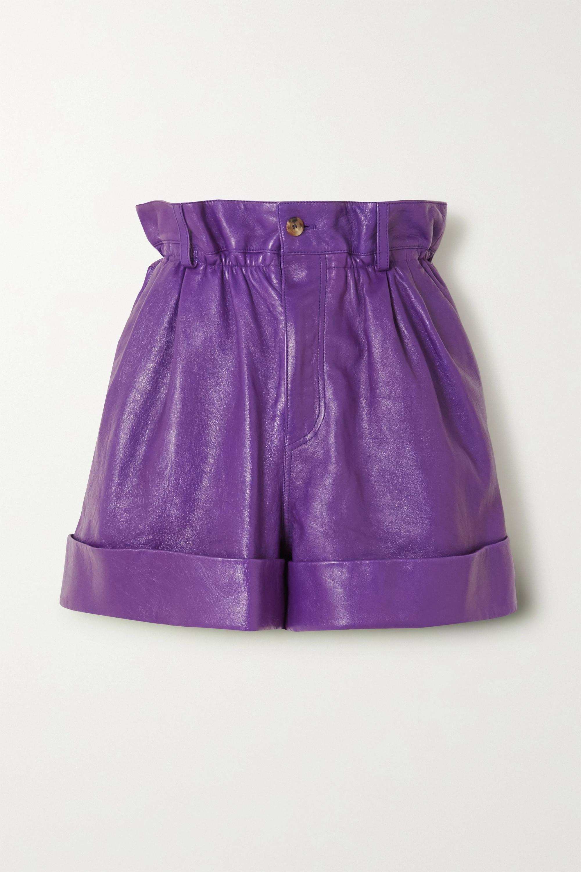Violet Short En Cuir   Miu