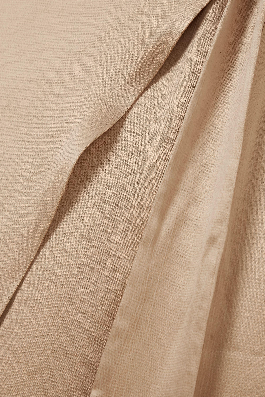 Envelope1976 San Clemente gathered moire wrap dress