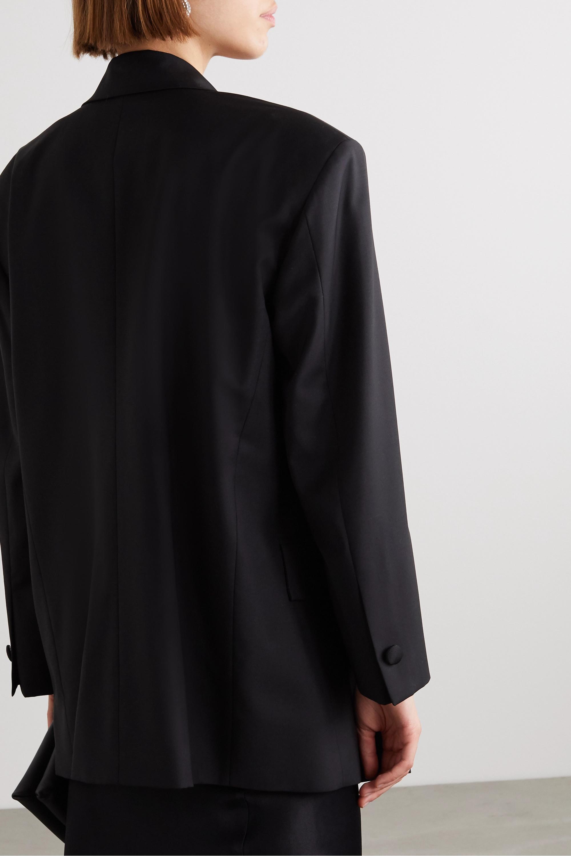 Envelope1976 Lyon oversized double-breasted satin-trimmed wool blazer