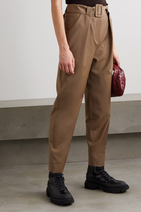 Pfeiffer belted pleated wool pants