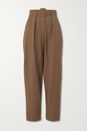 Envelope1976 Pfeiffer belted pleated wool pants