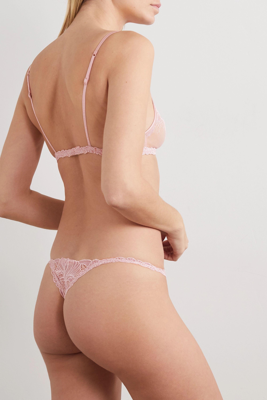 La Perla Camelia embroidered stretch-tulle soft-cup triangle bra