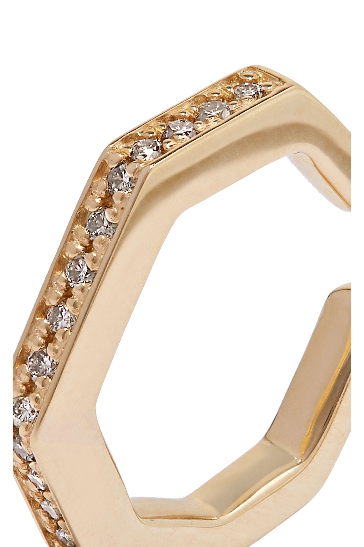 Hirotaka Manhattan 10-karat gold diamond ear cuff