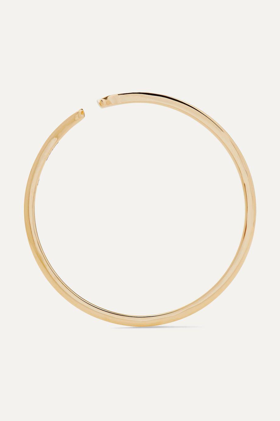 Hirotaka Gossamer oversized 10-karat gold ear cuff