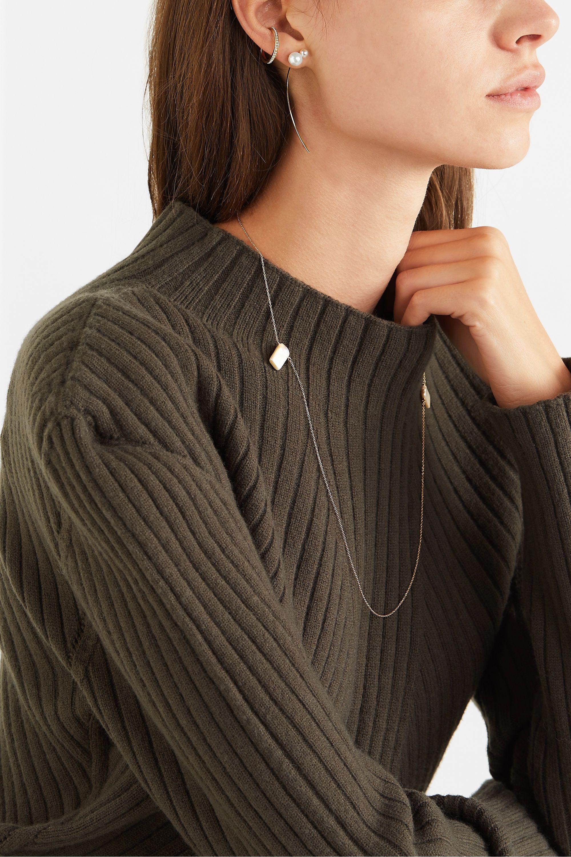 Hirotaka Arrow 10-karat gold pearl earring