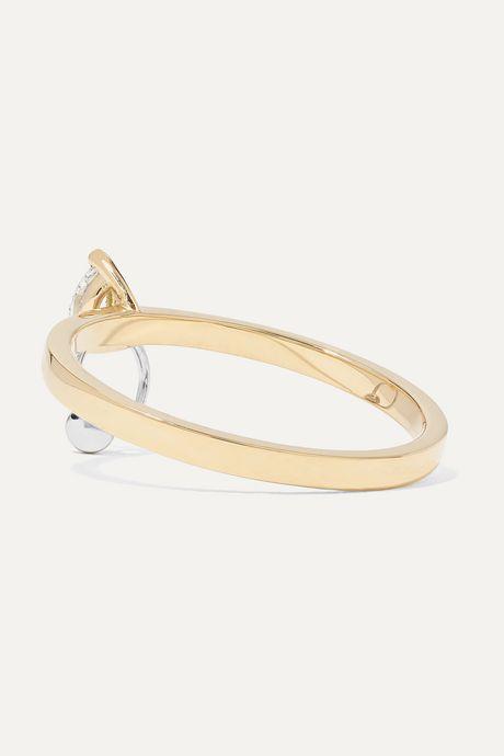 Gold 18-karat yellow and white gold diamond ring | Delfina Delettrez i2upfr
