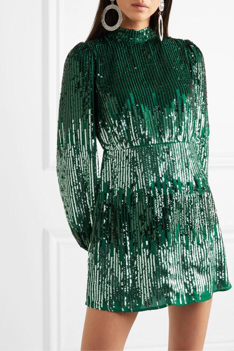 Samantha sequined crepe mini dress