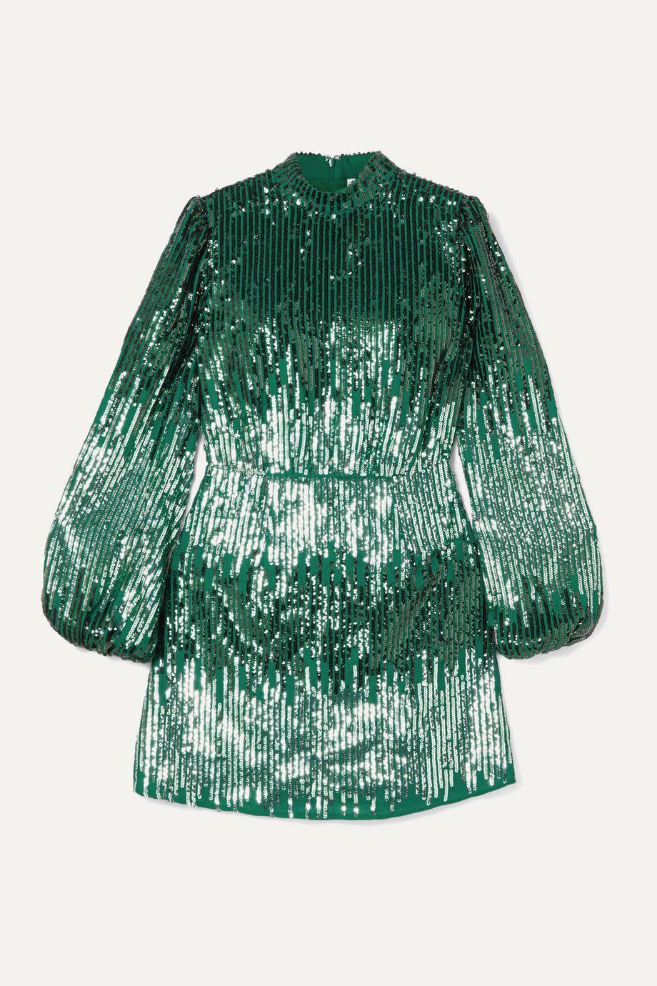 RIXO Samantha sequined crepe mini dress