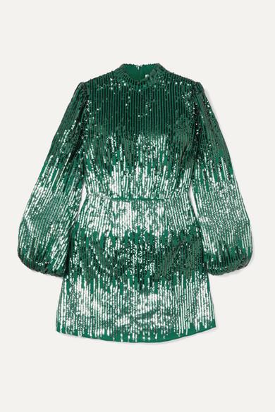 Sequin Crepe Mini Dress