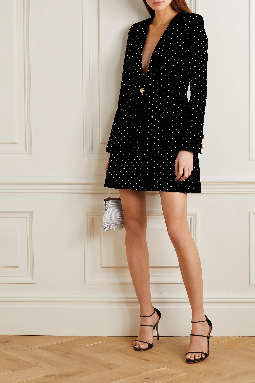 MARTIN MARTIN Delphine fil coupé velvet mini dress