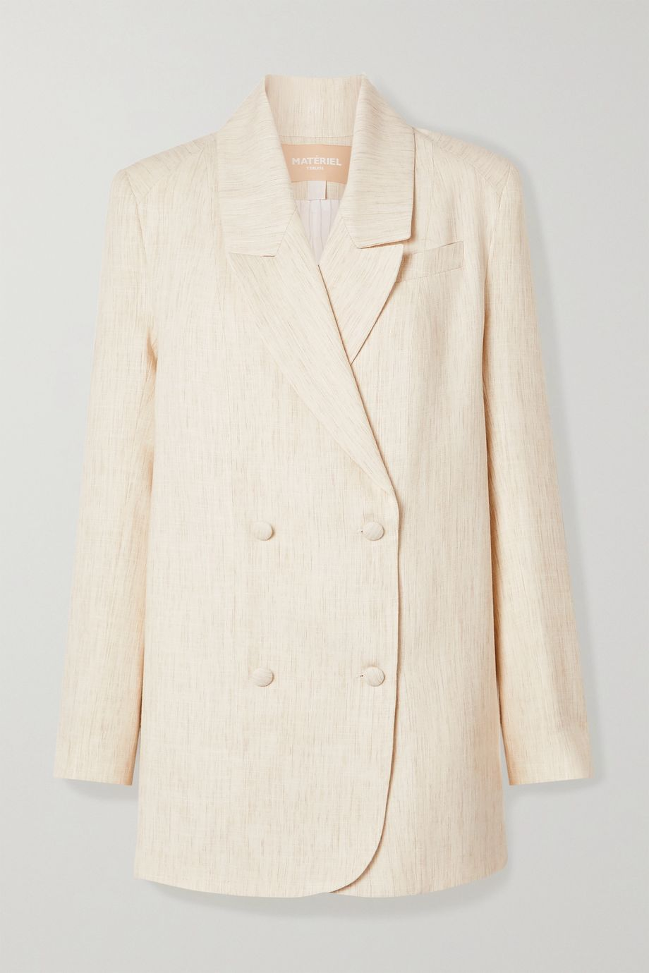 MATERIEL Oversized double-breasted mélange woven blazer