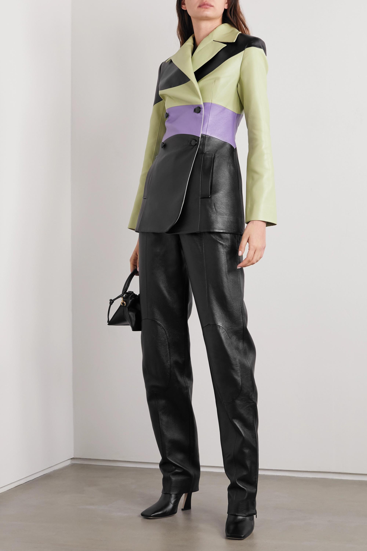 MATERIEL Paneled faux leather straight-leg pants