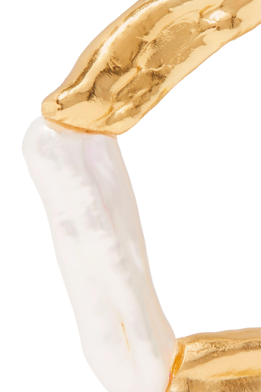 Pacharee Boucles d'oreilles en plaqué or et perles