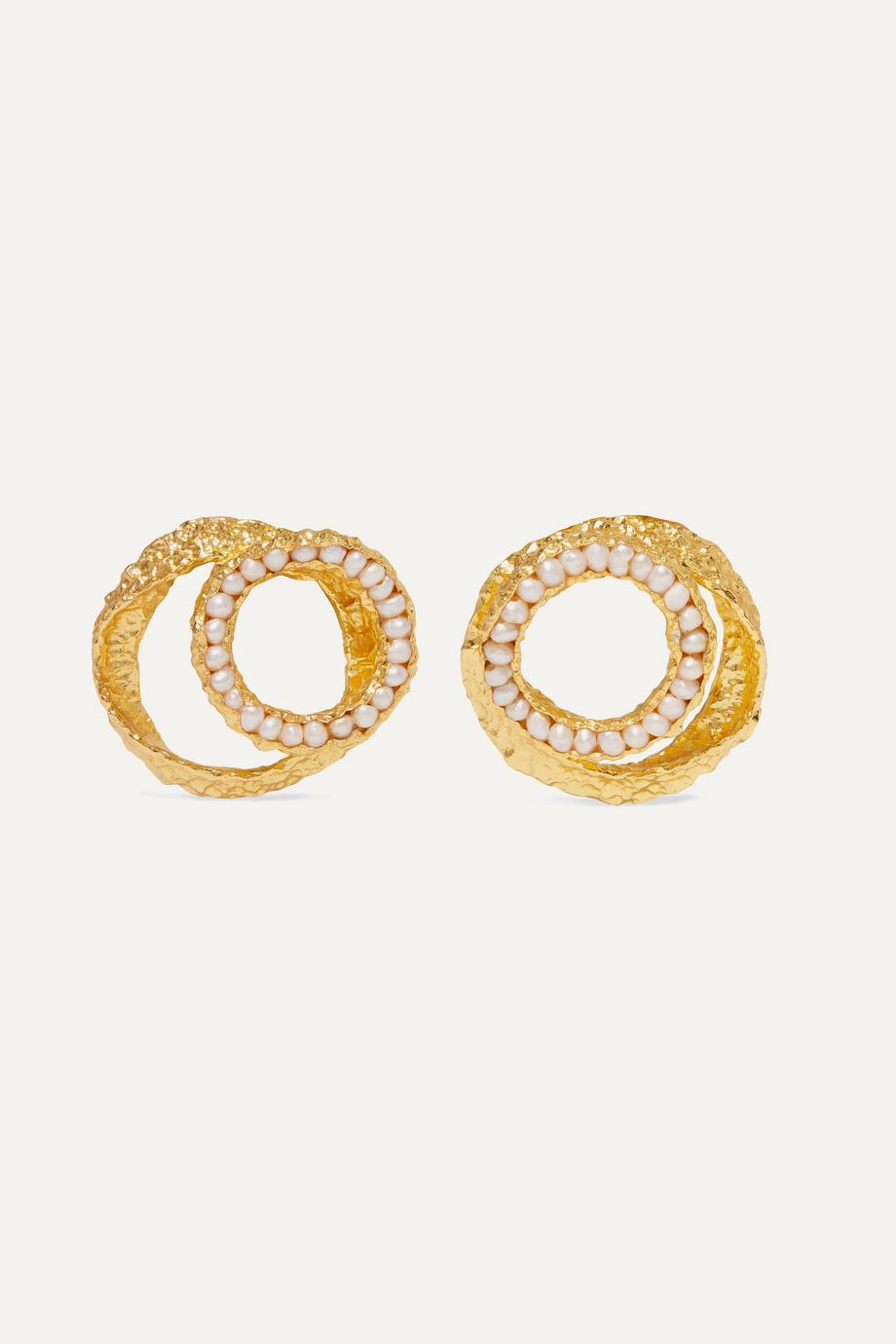 Pacharee Gold-plated pearl earrings