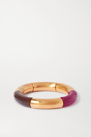 Female Emancipation gold-plated and resin bangle