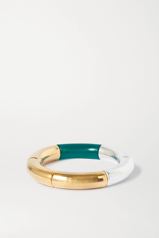 Kyoto Tango Sunichka resin, gold and silver-plated bangle