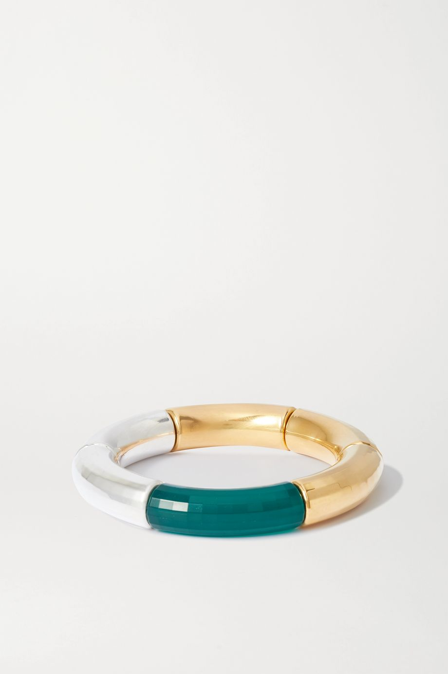 Kyoto Tango Sunichka resin, gold and silver-plated bangle
