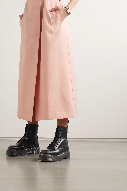 Black Jadon leather platform ankle