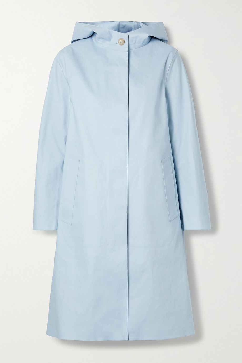 Mackintosh Chryston hooded bonded cotton trench coat